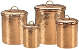 Copper Canisters, Copper Canister, Copper Canister Set, Coffee Canister