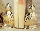 Brass Bookend Pineapple