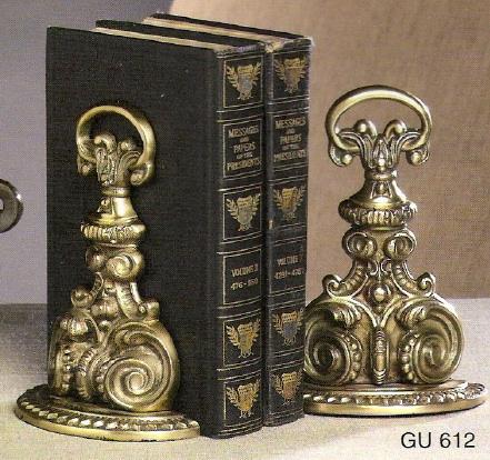 Antique brass bookends gu612 - Antique brass bookends ...