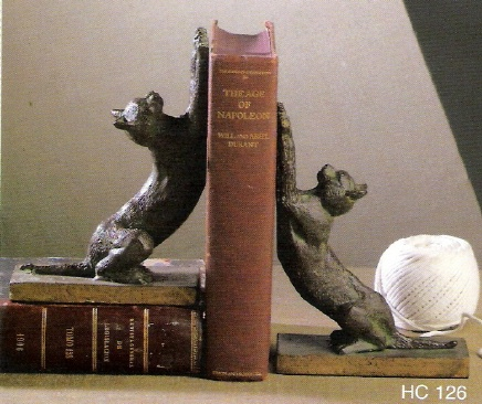 Cat Bookends Bronze