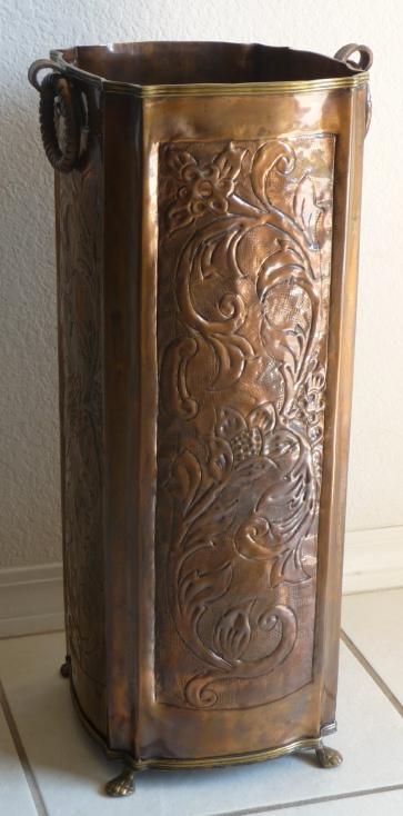 Original Antique Copper Umbrella Stand - Antique Furniture
