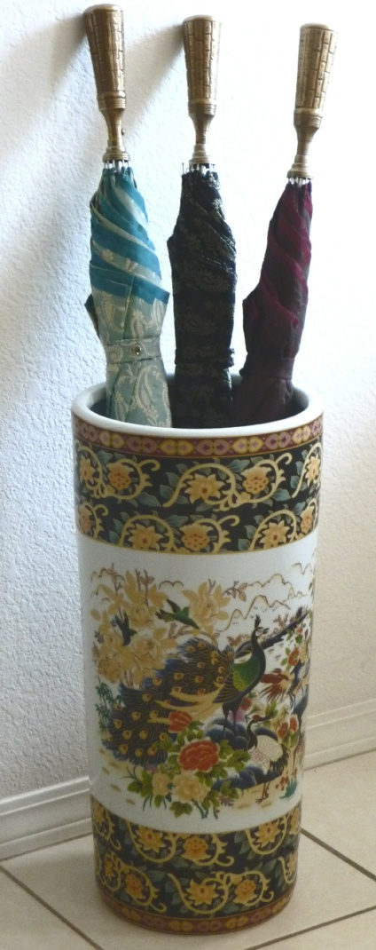 Ceramic Umbrella Stand Peacock Us11744