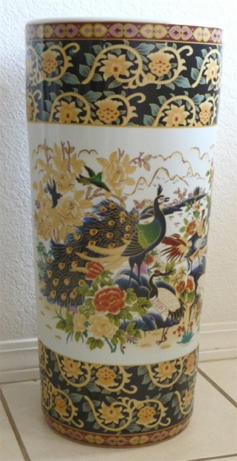 Ceramic Umbrella Stand Peacock Us11744 2nd