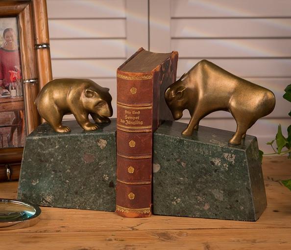 Bear And Bull Bookends Gu753
