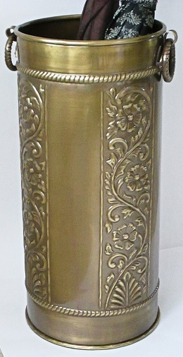 Scrollwork Brass Umbrella Stand
