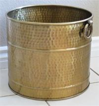 Brass Planter Hammered