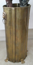 Oval Brass Umbrella Stand