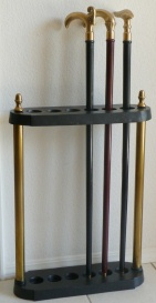 Cane Stand Iron and Brass
