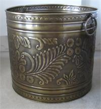 Large brass planter