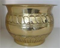 Brass Planter Polished Embossed