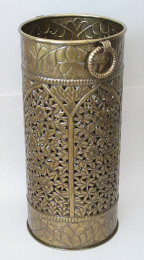 openwork brass umbrella stand