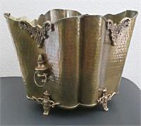 Solid Brass Planter Scalloped