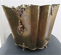 Brass Planter Hammered Large