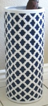 White and Navy Blue Umbrella Stand