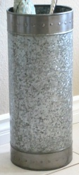Galvanized steel umbrella stand