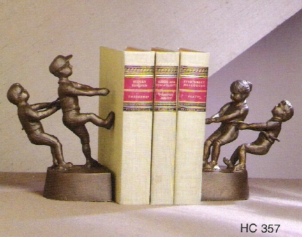 Brass Bookend Tug Of War