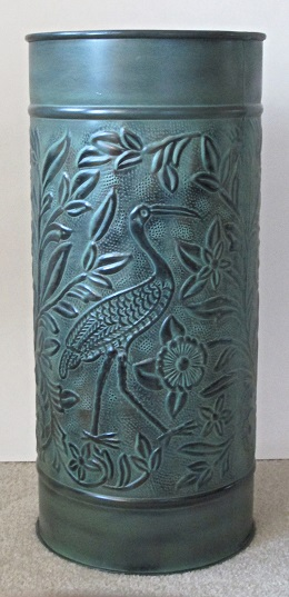 Umbrella Stand Bird Verdigris Finish
