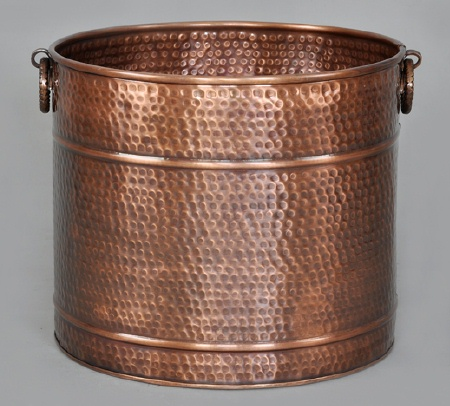 Hammered Copper Planter Medium