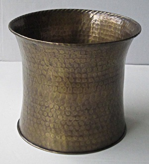 Solid Brass Planter Curved