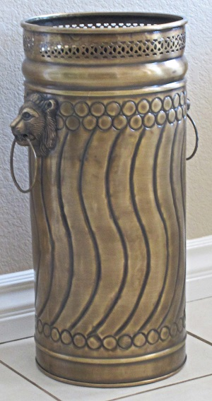 Umbrella Stand Solid Brass Lion Preserve