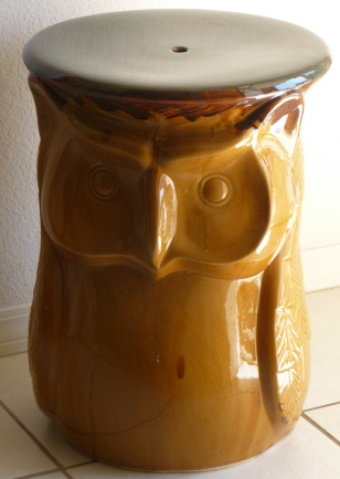 ... Garden Stool Owl Table 67357. View Larger Image