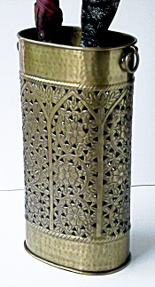 Umbrella Stand Oval Brass