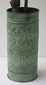 Bird Umbrella Stand verdigris