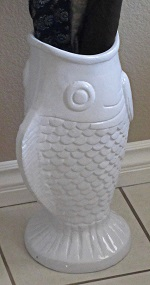 Fish Umbrella Holder White
