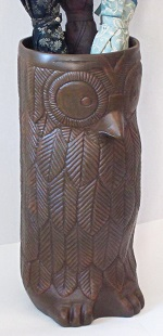 Owl Umbrella Holder Brown