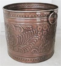 large copper planter