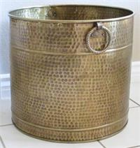 Brass Hammered Planter Large