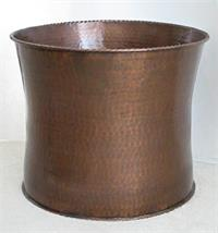 Hammered copper pot
