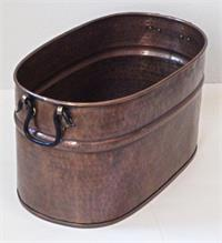 Solid Copper Wood Bin