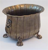 Brass Planter Tabletop Lion