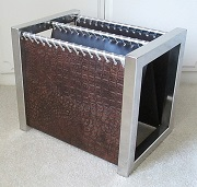 leather stainless steel magazine rack