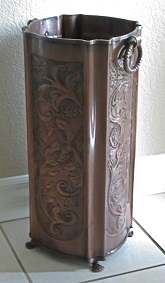 copper umbrella stand antique